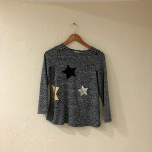 Soft grey long sleeve with stars